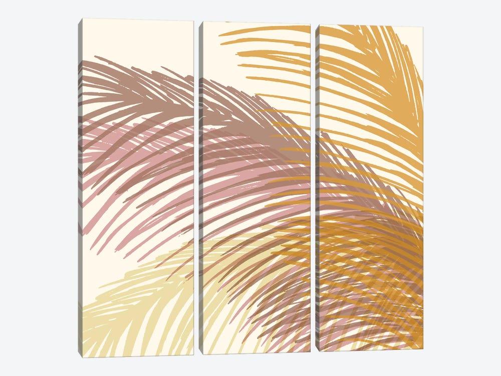 Autumn Palms by Modern Tropical 3-piece Canvas Art
