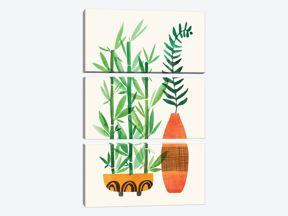 Bamboo and Fern by Modern Tropical 3-piece Canvas Wall Art
