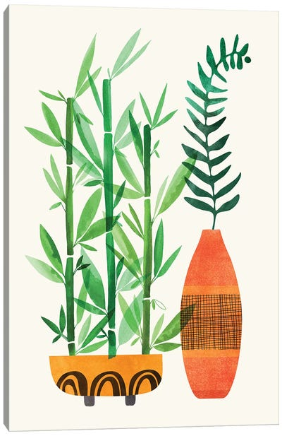 Bamboo and Fern Canvas Art Print