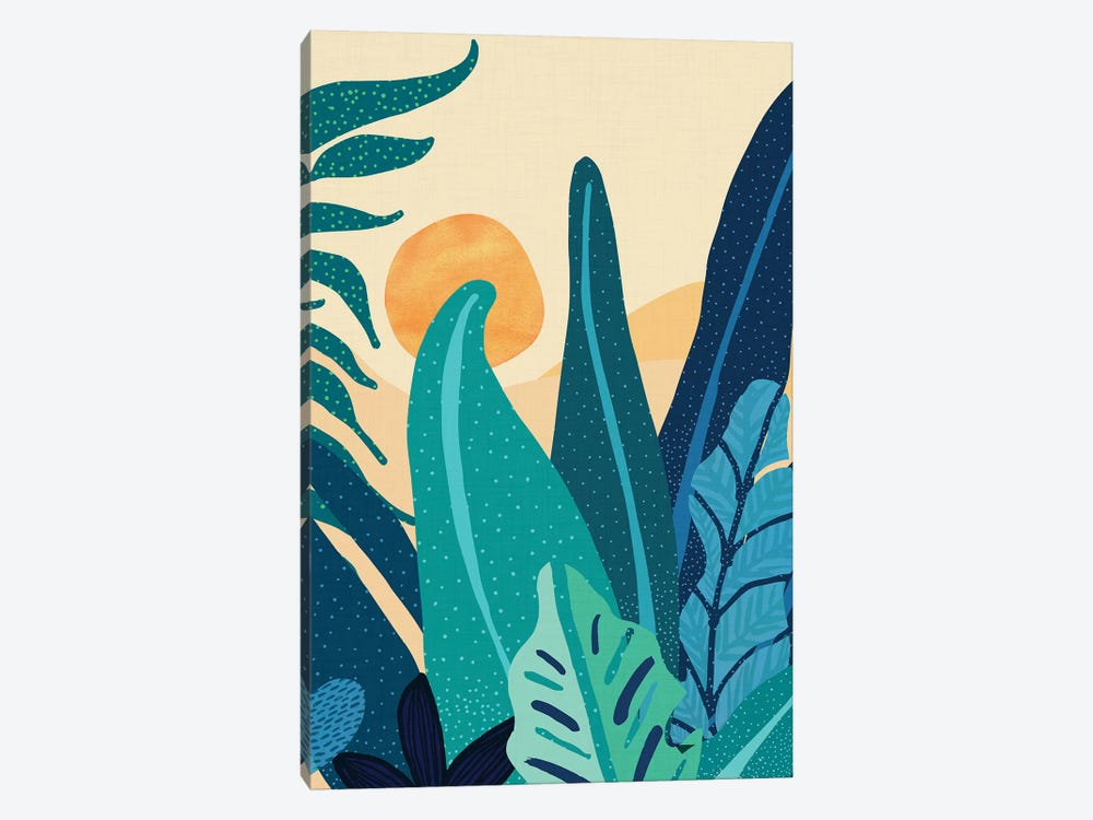 Afternoon Landscape by Modern Tropical 1-piece Canvas Art Print