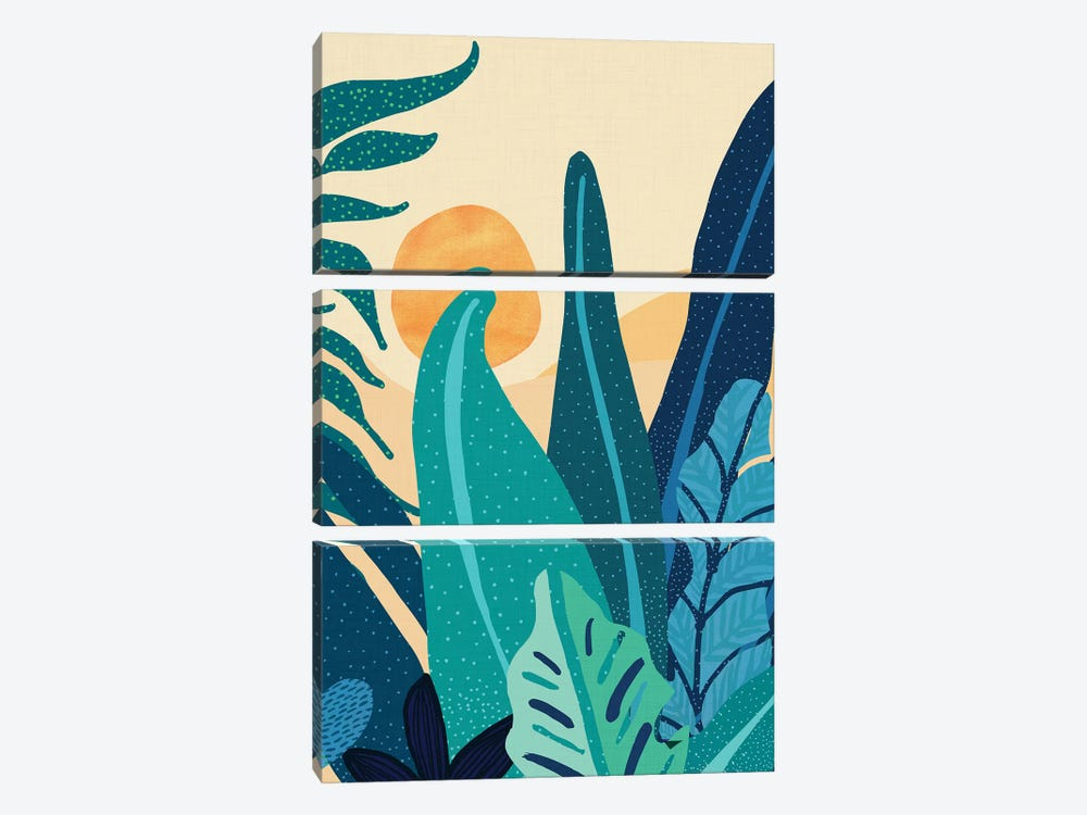 Afternoon Landscape by Modern Tropical 3-piece Art Print