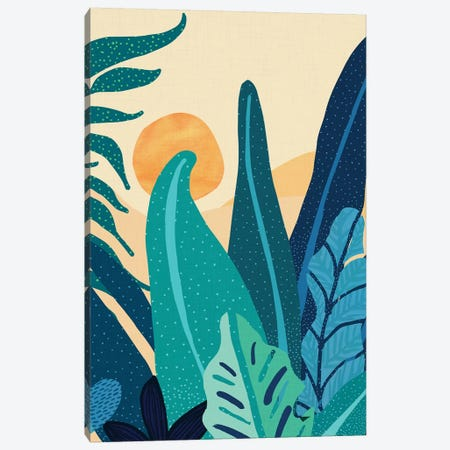 Afternoon Landscape Canvas Print #MTP9} by Modern Tropical Art Print
