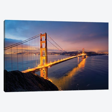 Golden Gate Bridge II Canvas Print #MTU152} by Mateusz Piesiak Canvas Art