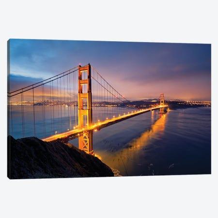Golden Gate Bridge II Canvas Print #MTU152} by Mateusz Piesiak Canvas Art