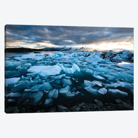 Land Of Ice Canvas Print #MTU153} by Mateusz Piesiak Canvas Artwork