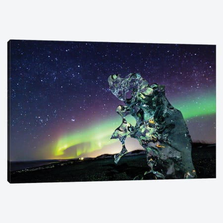 Icelandic Night Canvas Print #MTU172} by Mateusz Piesiak Canvas Wall Art