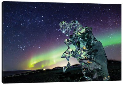 Icelandic Night Canvas Art Print
