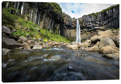 Waterfall, Iceland Canvas Art Print