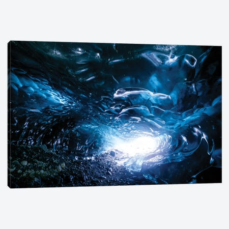 Ice Cave Canvas Print #MTU175} by Mateusz Piesiak Canvas Print