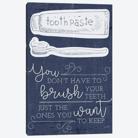 Brush Your Teeth Canvas Print #MTY13} by Misty Michelle Canvas Artwork
