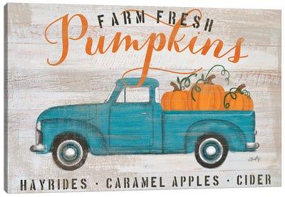 Blue Truck Pumpkin Patch     Canvas Art Print