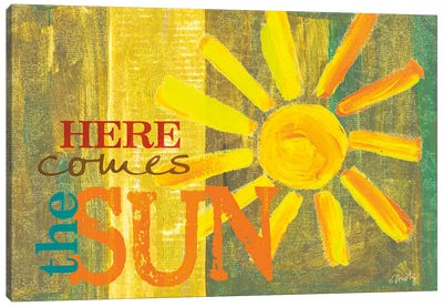Here Comes the Sun Canvas Art Print