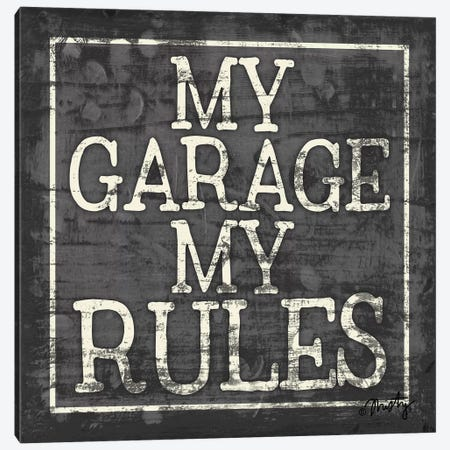 My Garage, My Rules Canvas Print #MTY8} by Misty Michelle Canvas Art