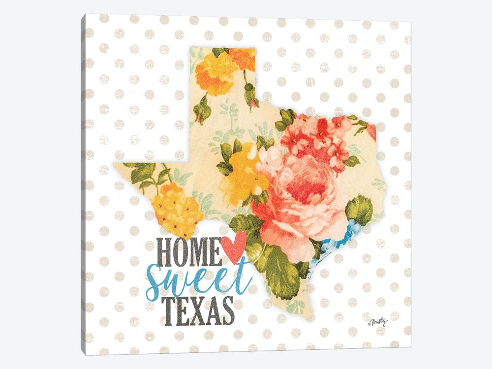 Home Sweet Texas Floral by Misty Michelle 1-piece Canvas Artwork
