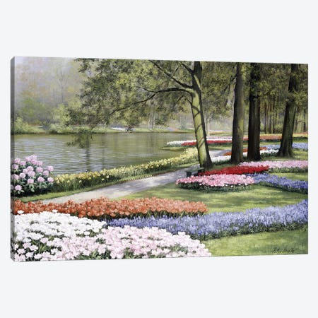 Floriade Canvas Print #MTZ13} by Peter Motz Art Print