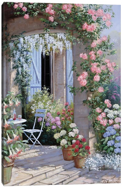 Flower Invitation Canvas Art Print