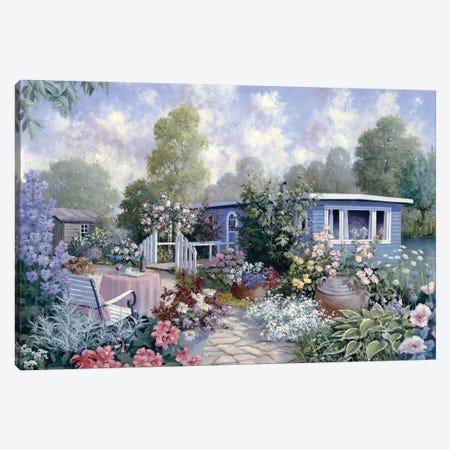 Houseboat Canvas Print #MTZ18} by Peter Motz Canvas Art Print