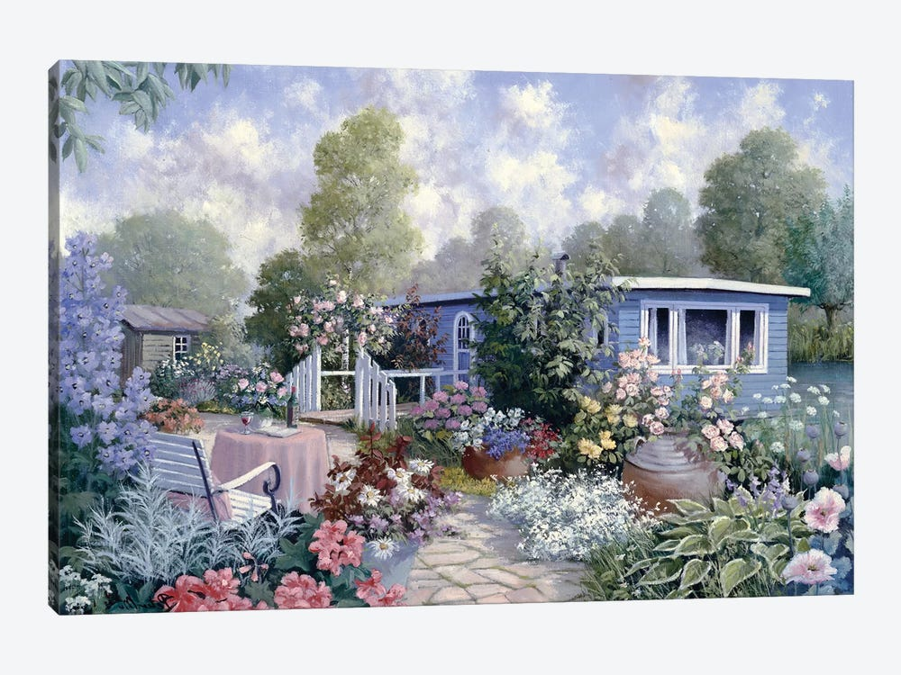 Houseboat by Peter Motz 1-piece Canvas Print