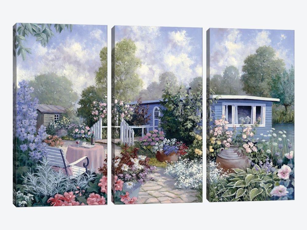 Houseboat by Peter Motz 3-piece Canvas Print