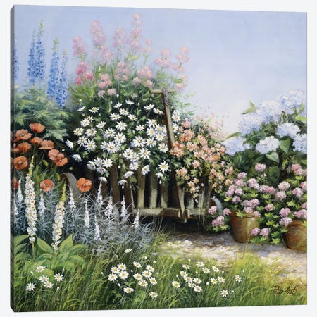 In My Garden Canvas Print #MTZ19} by Peter Motz Art Print