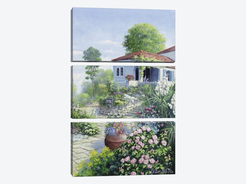 Italian Garden I by Peter Motz 3-piece Canvas Art