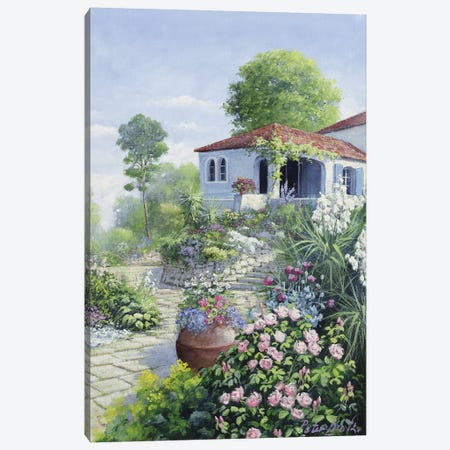Italian Garden I Canvas Print #MTZ20} by Peter Motz Canvas Art