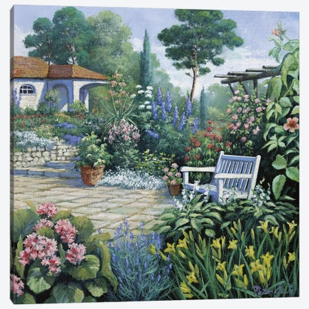 Italian Garden II Canvas Print #MTZ21} by Peter Motz Canvas Artwork