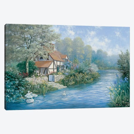 Lakescape Canvas Print #MTZ24} by Peter Motz Canvas Print