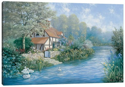 Lakescape Canvas Art Print