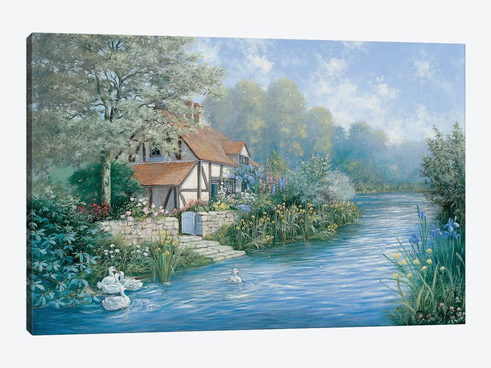 Lakescape by Peter Motz 1-piece Canvas Wall Art