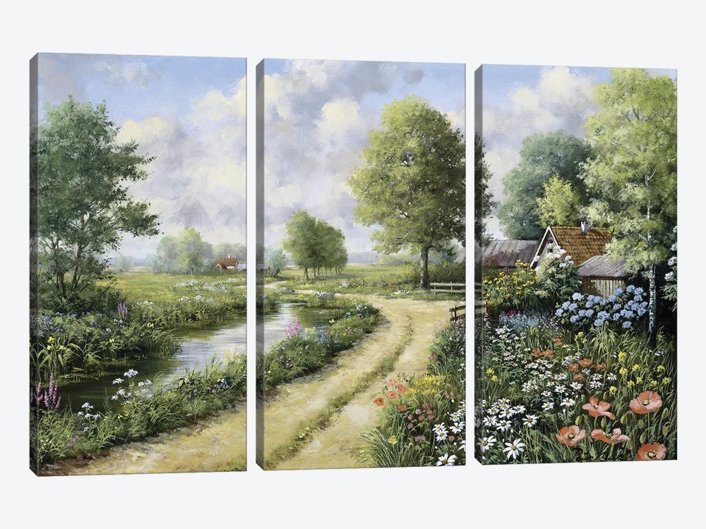 Almost Home by Peter Motz 3-piece Canvas Art