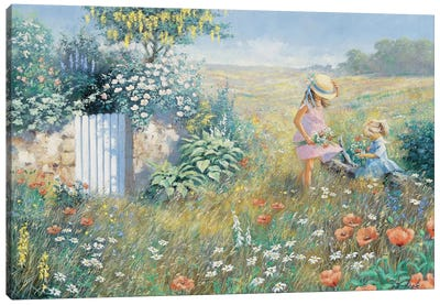 Outside The Garden Canvas Art Print