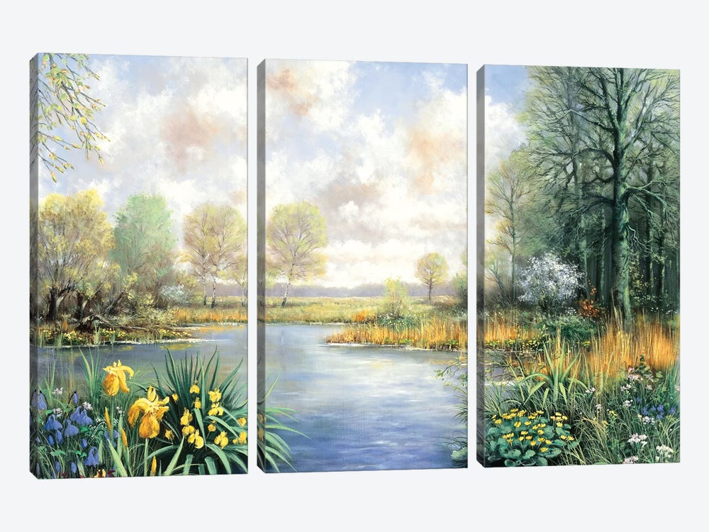 Spring Time by Peter Motz 3-piece Canvas Artwork