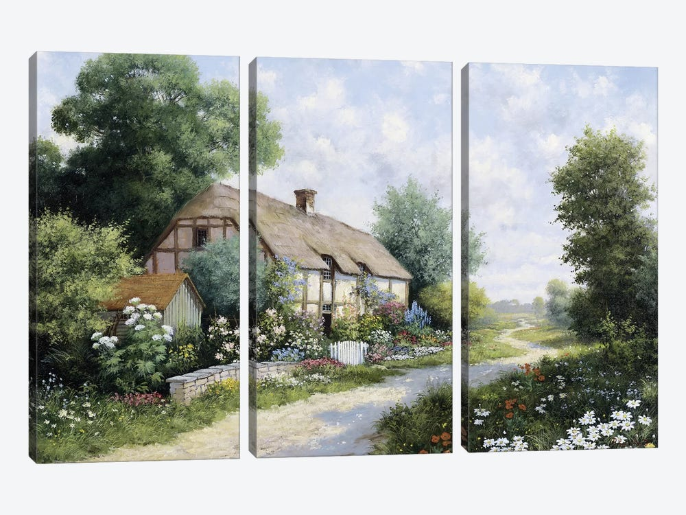 The Country House by Peter Motz 3-piece Canvas Print