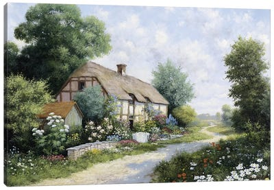 The Country House Canvas Art Print