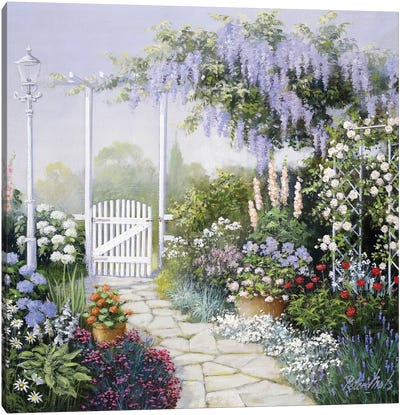 View On My Garden Canvas Art Print