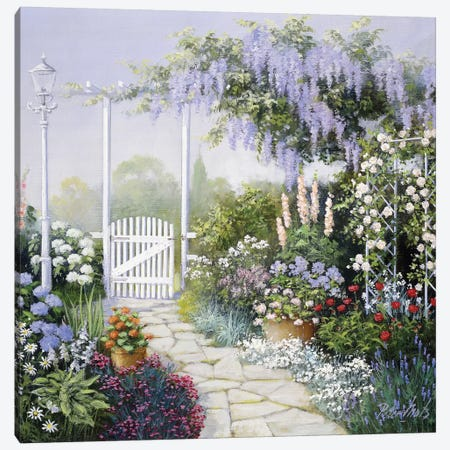 View On My Garden Canvas Print #MTZ58} by Peter Motz Canvas Art Print