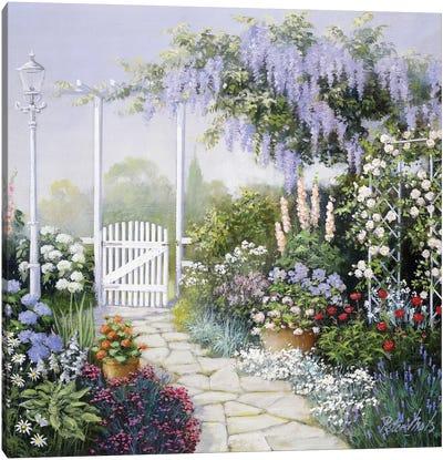 View On My Garden Canvas Art Print