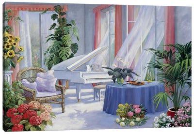 White Piano Canvas Art Print