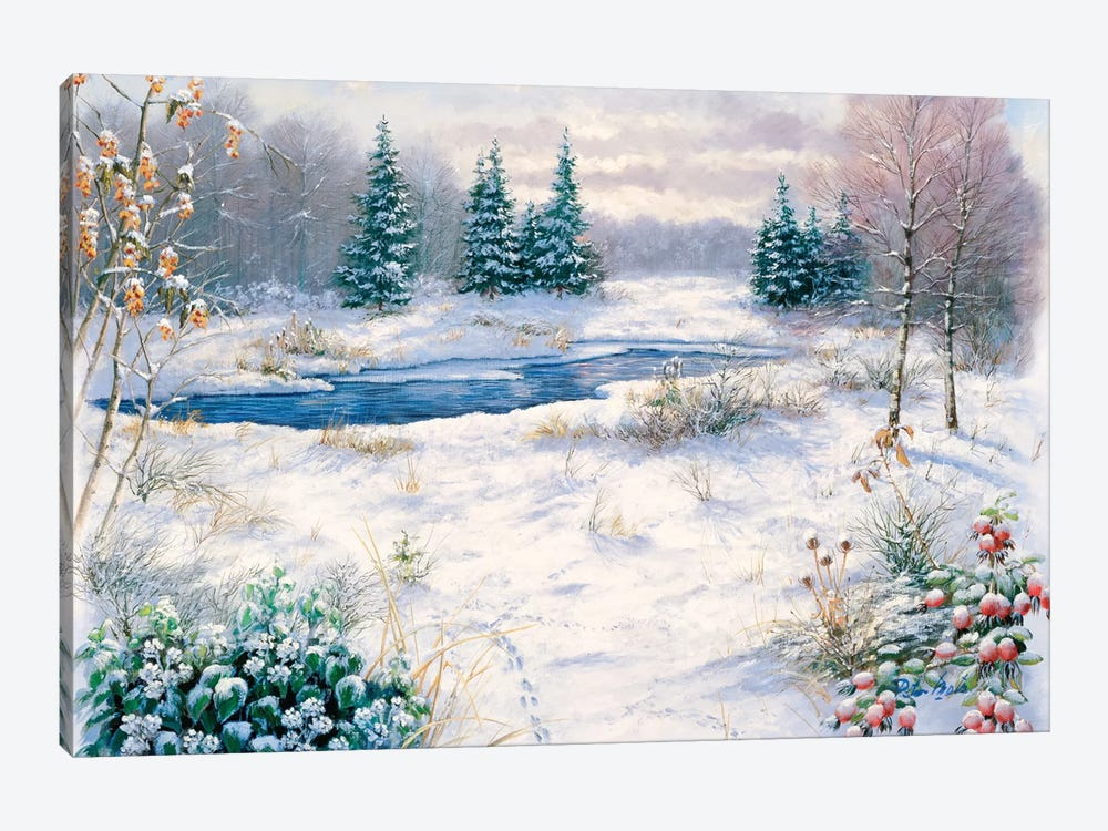Winter Time by Peter Motz 1-piece Canvas Print
