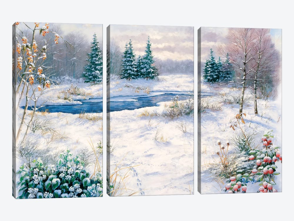 Winter Time by Peter Motz 3-piece Art Print