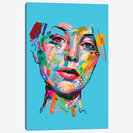 Amore A Distanza (Blu) Canvas Print #MUG11} by Antonio Murgia Art Print