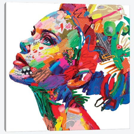 Gioventu' (White) Canvas Print #MUG15} by Antonio Murgia Canvas Artwork