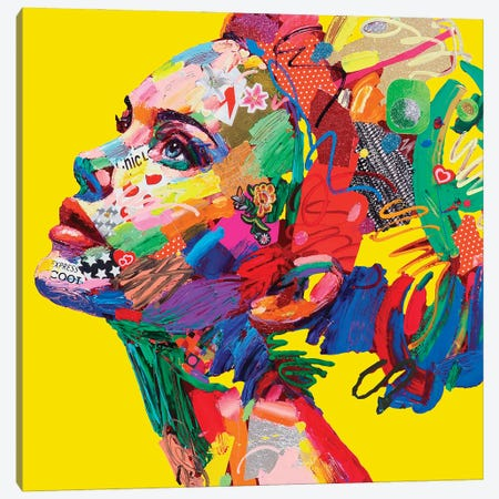 Gioventu' (Yellow) Canvas Print #MUG16} by Antonio Murgia Canvas Artwork