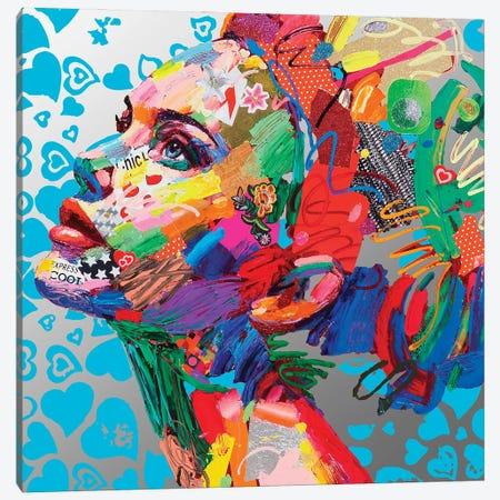 Gioventu' (Cuori Blu) Canvas Print #MUG19} by Antonio Murgia Art Print