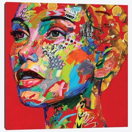 Bellissima Sorpresa (In Red) Canvas Print #MUG6} by Antonio Murgia Art Print