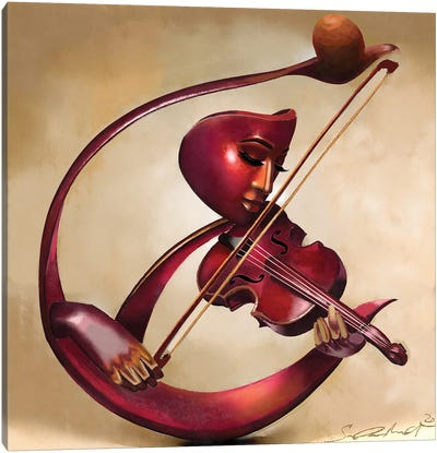 Ethereal Strings Canvas Art Print
