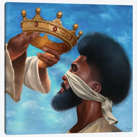 Crown Me Lord (Man) Canvas Print #MUH4} by Salaam Muhammad Canvas Wall Art