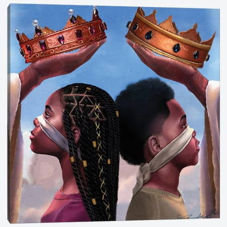 Crown Us Lord Official Art Canvas Print #MUH5} by Salaam Muhammad Canvas Art