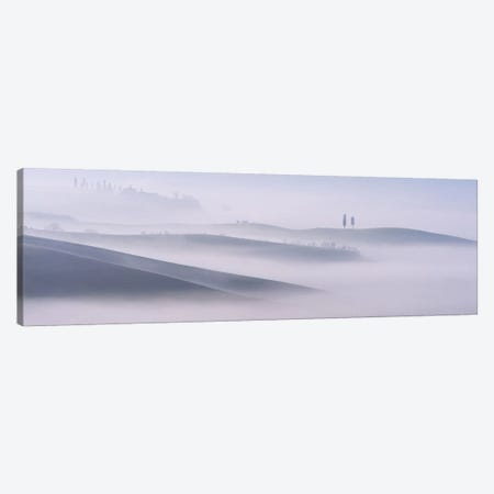 Dawn Mist In Val d'Orcia, Tuscany Canvas Print #MUM1} by Andy Mumford Canvas Wall Art